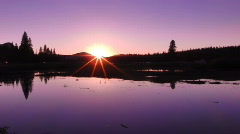 Yosemite HSD01 Tuolumne Meadows Sunset on Lake Time Lapse x2 Stock Footage