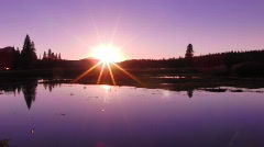 Yosemite HSD01 Tuolumne Meadows Sunset on Lake Time Lapse x20 Stock Footage