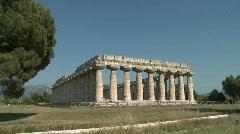 Stock Video Footage of Paestum Doric Temples 2