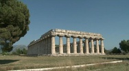 Stock Video Footage of Paestum Doric Temples 2
