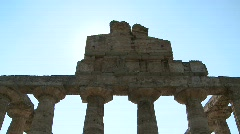 Paestum Doric Temple Stock Footage