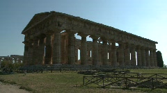 Paestum Doric Temple 11 Stock Footage