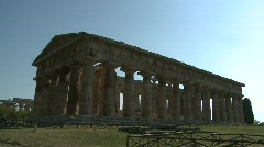Paestum Doric Temple 10 Stock Footage