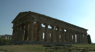 Paestum Doric Temple 10 Stock Footage