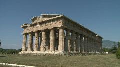 Paestum Temples 1 Stock Footage