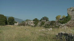 Paestum Remains of The Past Stock Footage