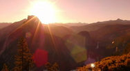 Yosemite HSD05 Half Dome Sunrise Time Lapse x40 Stock Footage