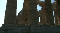 Paestum Columns Stock Footage