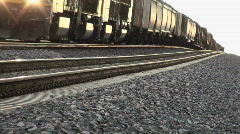 Slow Moving Train Stock Footage