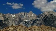Stock Video Footage of Mount Whitney HSD01 Time Lapse x40