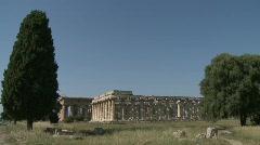 Paestum Doric Temples 5 Stock Footage