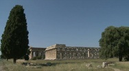 Stock Video Footage of Paestum Doric Temples 5
