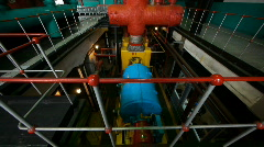 Interior of power station 7 - stock footage