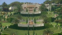Down the hill of the Bahaim Gardens Haifa. Stock Footage