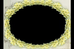 4632L Music sheet oval flower video photo frame Stock Footage