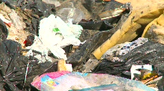 The environment, garbage dump, #21 landfill, zoom back Stock Footage
