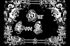 4626L our love forever write on wedding photo video frame Stock Footage
