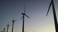 Stock Video Footage of Windmills Silhouette