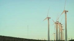 Windmills Side Angle - stock footage