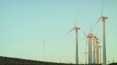 Windmills Side Angle Stock Footage