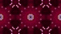 Purple butterfly circle pattern and smoke.lotus,Buddhism Mandala flower,kaleidos Stock Footage