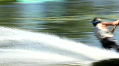 Wakeboarding - stock footage