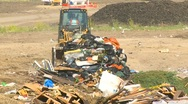 Stock Video Footage of the environment, garbage dump, #2 and bulldozer
