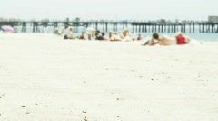 California beach in summer time Stock Footage
