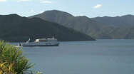 Stock Video Footage of Ferry leaving Picton, New Zealand