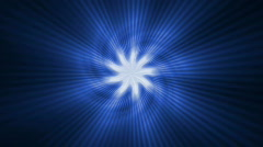 Blue light,rotation sawtooth,laser light. Stock Footage