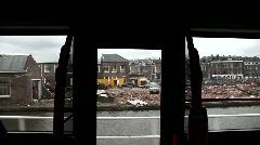 Bus ride spoorzone delft Stock Footage