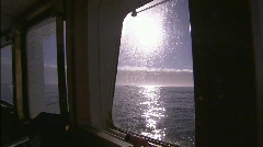Inside Las Palmas ship Beagle channel 4 Stock Footage