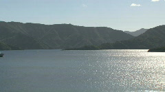 Picton ferry, New Zealand Stock Footage