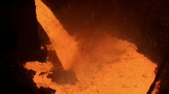 Liquid metal from blast furnace Stock Footage