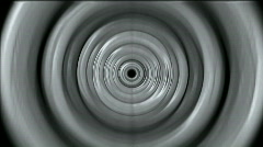 3d gray metal round,ripple,circle computer interface.Sound,wave,frequency,spectr Stock Footage