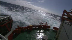 Las Palmas ship sailing in a Turbulent sea Stock Footage