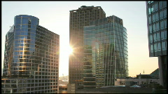 Time lapse Skyline Sunset 550D Stock Footage