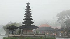 Pura Ulu Danau Temple on Bratan lake Stock Footage