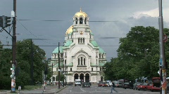 St. Alexander Nevsky cathedral Stock Footage