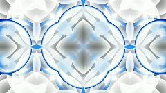 Blue glass flower lotus fancy pattern.Buddhism Mandala flower,kaleidoscope,orien Stock Footage