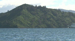 Ferry at Picton, New Zealand Stock Footage