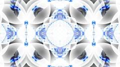 blue glass flower lotus fancy pattern.Buddhism Mandala flower,kaleidoscope,orien - stock footage