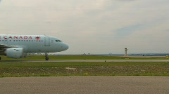 Aircraft, Airbus A319-114 taxi, wide shot Stock Footage