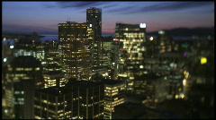 Time lapse_ Skyline_Sunset_2_7D_Shift+Tilt Stock Footage