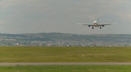 Stock Video Footage of aircraft, Airbus A330 landing