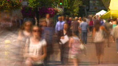 Time-lapse, trippy people walking on mall, another Stock Footage