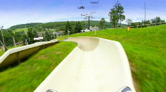 Alpine Slide 1809 Stock Footage