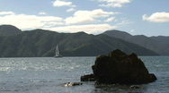 Stock Video Footage of Sailing boat, New Zealand