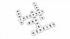 Internet - Puzzle Crossword Game - stock footage