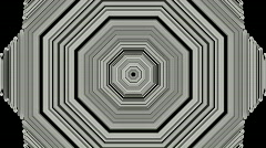 3d gray metal hexagon,computer tunnel interface.Sound,wave,frequency,spectrum, Stock Footage